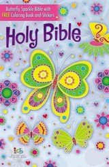 Icb, Butterfly Sparkle Bible, Hardcover - Thomas Nelson - ISBN: 9780718085575