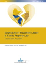 Valorisation of Household Labour in Family Property Law - Charlotte  Declerck - ISBN: 9789462748910