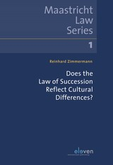 Does the Law of Succession Reflect Cultural Differences? - Reinhard  Zimmermann - ISBN: 9789462748859
