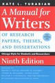 A Manual For Writers Of Research Papers, Theses, And Dissertations - Turabian, Kate L./ Booth, Wayne C. (EDT)/ Colomb, Gregory G. (EDT)/ William... - ISBN: 9780226494425