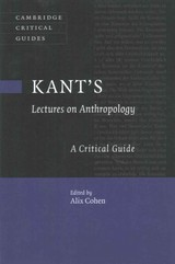Kant's Lectures On Anthropology - Cohen, Alix (EDT) - ISBN: 9781316621547