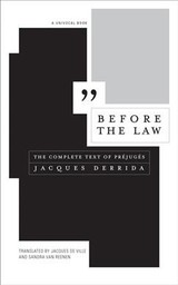 Before The Law - Derrida, Jacques - ISBN: 9781517905514