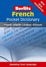 Berlitz Pocket Dictionary French (langenscheidt) - Berlitz International, Inc. (COR) - ISBN: 9781780044835