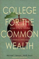 College For The Commonwealth - Benson, Michael T.; Boyd, Hal R. - ISBN: 9780813176598