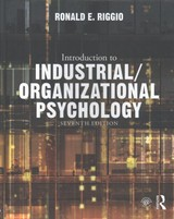 Introduction To Industrial/organizational Psychology - Riggio, Ronald E. - ISBN: 9781138655324