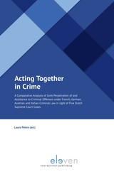 Acting Together in Crime - ISBN: 9789462748828