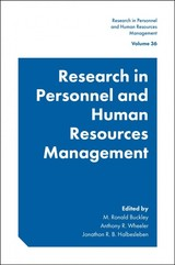 Research In Personnel And Human Resources Management - Buckley, M. Ronald (EDT)/ Wheeler, Anthony R. (EDT)/ Halbesleben, Jonathon R. B. (EDT) - ISBN: 9781787563223