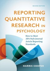 Reporting Quantitative Research In Psychology - Cooper, Harris M. - ISBN: 9781433829376