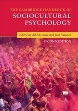 Cambridge Handbooks In Psychology - Rosa, Alberto (EDT)/ Valsiner, Jaan (EDT) - ISBN: 9781316610282