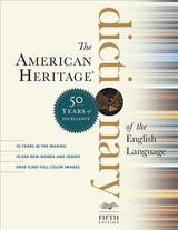 American Heritage Dictionary Of The English Language, Fifth Edition: Fiftieth Anniversary Printing - American, Heritage,dictionaries - ISBN: 9781328841698