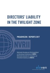 Directors liability in the twilight zone - Loes  Lennarts - ISBN: 9789462749115