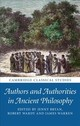 Authors And Authorities In Ancient Philosophy - ISBN: 9781316510049