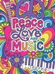 Notebook Doodles Peace Love And Music Guided Journal - Volinski, Jess - ISBN: 9781641780728