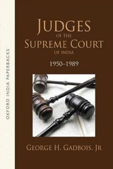 Judges Of The Supreme Court Of India - Gadbois, George H. (university Of Kentucky) - ISBN: 9780199469369