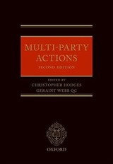 Multi-party Actions - Hodges, Christopher (EDT)/ Webb, Geraint (EDT) - ISBN: 9780199533305