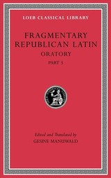 Fragmentary Republican Latin, Volume V - Manuwald, Gesine (EDT) - ISBN: 9780674997257