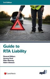 Apil Guide To Rta Liability - Ford, Jeremy (EDT)/ Mooney, Giles (EDT)/ Dawson, Adam (EDT) - ISBN: 9781784733964