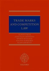Trade Marks And Competition Law - Shemtov, Noam; Maniatis, Spyros M.; Griffiths, Jonathan; Firth, Alison - ISBN: 9780198728986