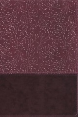 Nrsv, Thinline Reference Bible, Large Print, Leathersoft, Burgundy, Comfort Print - Zondervan - ISBN: 9780310453284