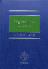 Equal Pay - Romney Qc, Daphne (barrister, Barrister, Cloister's Chambers) - ISBN: 9780198816003