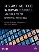 Research Methods In Human Resource Management - Anderson, Valerie; Fontinha, Dr Rita; Robson, Dr Fiona - ISBN: 9780749483876