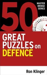 50 Great Puzzles On Defence - Klinger, Ron - ISBN: 9781474611800