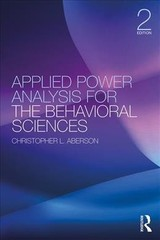 Applied Power Analysis For The Behavioral Sciences - Aberson, Christopher L. (humboldt State University, Usa) - ISBN: 9781138044593