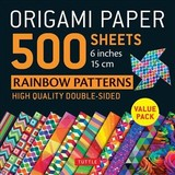 Origami Paper 500 Sheets Rainbow Patterns 6 Inch (15 Cm) - Tuttle Publishing - ISBN: 9780804851459