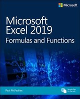 Microsoft Excel 2019 Formulas And Functions - Mcfedries, Paul - ISBN: 9781509306190