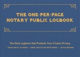 One-per-page Notary Public Logbook - Ulysses Press, Editors Of - ISBN: 9781612439365