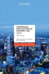 Commercial Applications Of Company Law 2019 - Stapledon, Geof (vice President Governance, Vice President Governance, Bhp Billiton); Ramsay, Ian (professor, Professor, Melbourne Law School, Melbourne University); Hanrahan, Pamela (professor, Professor, University Of New South Wales) - ISBN: 9780190318451