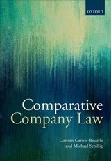Comparative Company Law - Gerner-beuerle, Carsten (professor Of Commercial Law, Professor Of Commercial Law, University College London); Schillig, Michael Anderson (professor Of Law, Professor Of Law, King's College London) - ISBN: 9780199572205