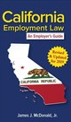 California Employment Law - Mcdonald, James J. - ISBN: 9781586445997