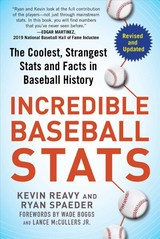 Incredible Baseball Stats - Reavy, Kevin/ Spaeder, Ryan/ Boggs, Wade (FRW)/ McCullers, Lance, Jr. (FRW) - ISBN: 9781683583189