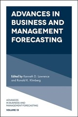 Advances In Business And Management Forecasting - Lawrence, Kenneth D. (EDT)/ Klimberg, Ronald K. (EDT) - ISBN: 9781787542907