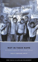 Not In Their Name - Lawford-smith, Holly - ISBN: 9780198833666