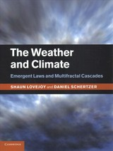 Weather And Climate - Lovejoy, Shaun (mcgill University, Montreal); Schertzer, Daniel - ISBN: 9781108446013