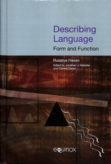 Describing Language - Hasan, Ruqaiya - ISBN: 9781904768418