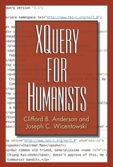 Xquery For Humanists - Wicentowski, Joseph C.; Anderson, Clifford B. - ISBN: 9781623498290