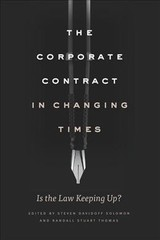 Corporate Contract In Changing Times - Davidoff Solomon, Steven (EDT)/ Thomas, Randall Stuart (EDT) - ISBN: 9780226599403