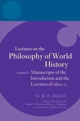 Hegel: Lectures On The Philosophy Of World History, Volume I - ISBN: 9780198776642