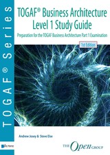 TOGAF® Business Architecture Level 1 Study Guide - Andrew  Josey - ISBN: 9789401804837