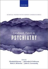Landmark Papers In Psychiatry - ISBN: 9780198836506