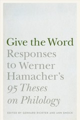 Give The Word - Hamacher, Werner - ISBN: 9781496206527