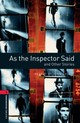 Oxford Bookworms Library: Level 3:: As The Inspector Said And Other Stories - Escott, John - ISBN: 9780194791083