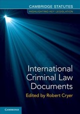 International Criminal Law Documents - Cryer, Robert (EDT) - ISBN: 9781108729086