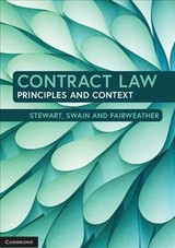 Contract Law - Fairweather, Karen (university Of Auckland); Swain, Warren (university Of Adelaide); Stewart, Andrew - ISBN: 9781107687486