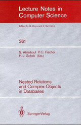 Nested Relations and Complex Objects in Databases - ISBN: 9783540511717