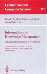Information And Knowledge Management - Finin, Timothy W./ Nicholas, Charles K./ Yesha, Yelena - ISBN: 9783540574194