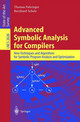 Advanced Symbolic Analysis For Compilers - Scholz, Bernhard; Fahringer, Thomas - ISBN: 9783540011859